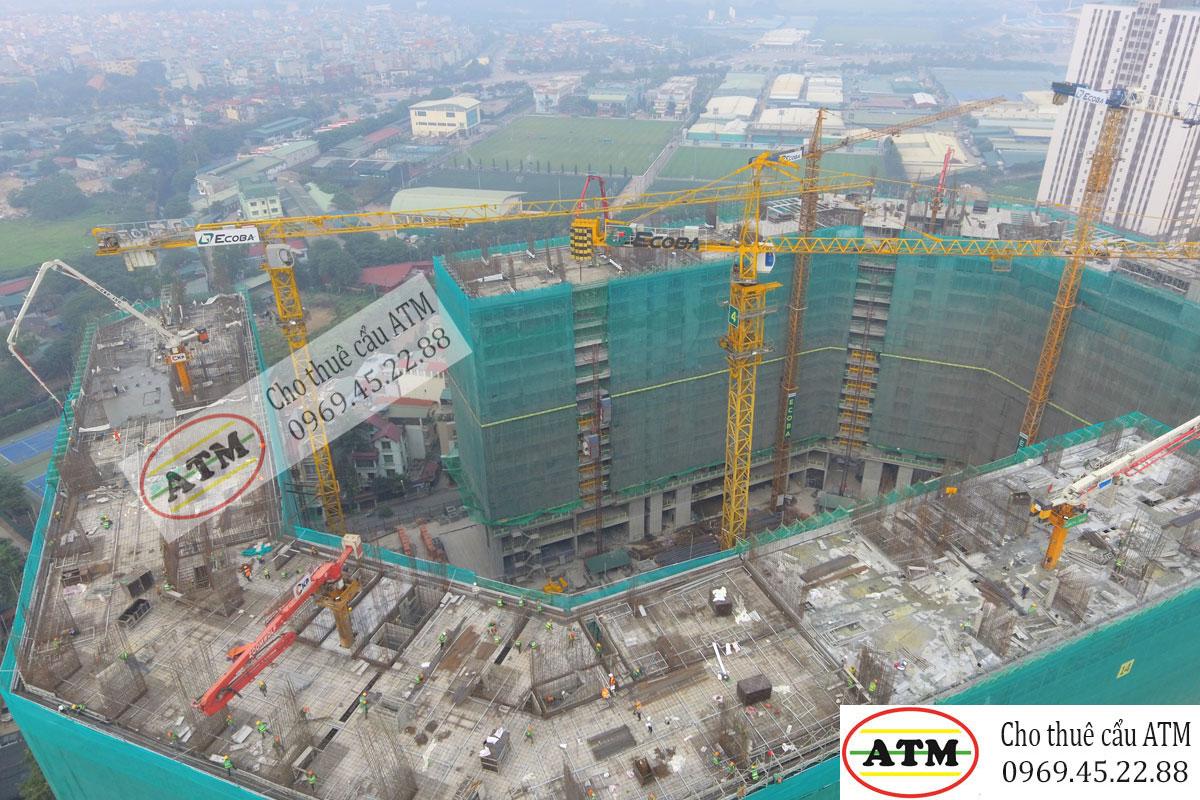 Cho thuê cẩu tháp Zoomlion 8 tấn chuyên nghiệp